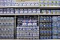 Bottles of Mineral Water in Super Market in France